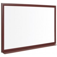 EARTH-IT Recycled Ceramic Steel Magnetic Dry Wipe Board With Oak Effect Frame