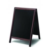 Chalkboard A Frame Pavement Sign round profile - Dark Brown
