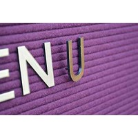Grooved Board Letter Characters - Polished Gold