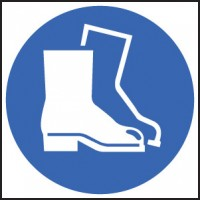 Safety boots sign