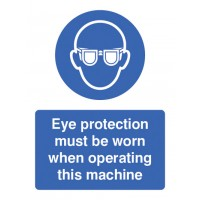 Eye protection must be worn portrait sign
