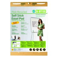 Earth-It Recycled Self Stick Easel Pad 80gr 30 Sheets - 635x775mm Pack Of 2