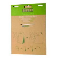 Earth-It Recycled Self Stick Tabletop Flipchart Pad, 80gsm, 20 Sheets, Pack Of 2