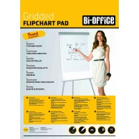 Bi-Office Gridded A1 Flipchart Pads, 40 sheets per pad, Pack of 5, 60gsm.