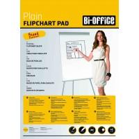 Plain Flipchart Pad A1, 40 Sheets, 60gsm, Bi-Office Pack Of 5