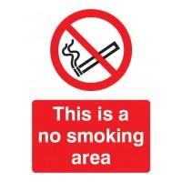 No smoking Portrait signs