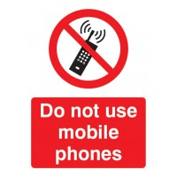 Do not use mobile phones Portrait signs