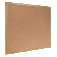 Earth-It Recycled Cork Board - Wood Effect Frame