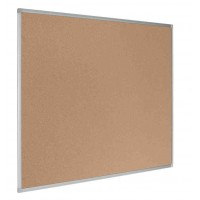 Earth-It Recycled Cork Board Aluminum Frame