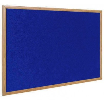 Earth-It Recycled Wood-Free Frame Blue Felt Notice Board