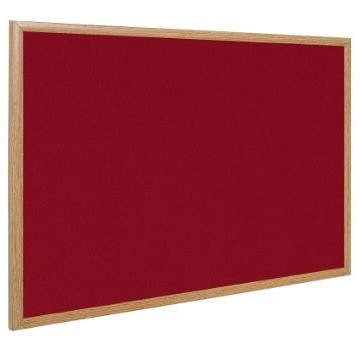 Earth-It Recycled Wood-Free Frame Red Felt Notice Board