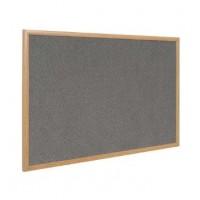 Earth-It Recycled Wood-Free Frame Grey Felt Notice Board