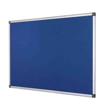 Blue Felt Notice Board Aluminium Frame, Choice Of Sizes