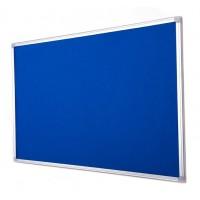 Earth-It Recycled Blue Felt Notice Board Aluminium Frame