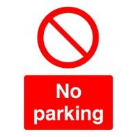 No parking Portrait signs