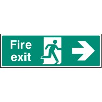 Fire exit - right - Emergency Escape Sign