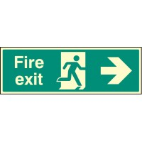 Fire exit - right Night Glow - Emergency Escape Sign