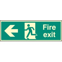 Fire exit - Left Night Glow - Emergency Escape Sign