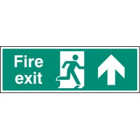 Fire exit - Straight on - Emergency Escape Sign