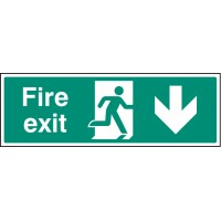 Fire exit - Down - Emergency Escape Sign