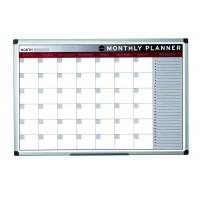 Coloured Magnetic Monthly Planner 900x600mm Aluminium Frame