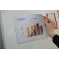 A4 Magnetic Landscape Document Pockets (5 pack)