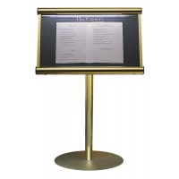 Stand Mounted Menu Display Case from E4office
