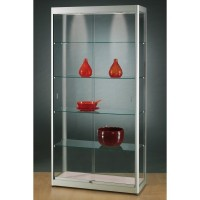 Illuminated Glass Showcase - Glass Display cabinet