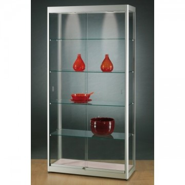 Illuminated Glass Showcase - Glass Display cabinet