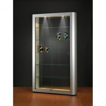Designer Illuminated Glass Showcase - Glass Display cabinet with lighting - 1186x250x2000