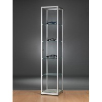 Glass Showcase - Glass Display cabinet - 400x400x1984