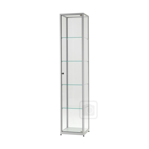 illuminated glass showcase glass display cabinet with lighting