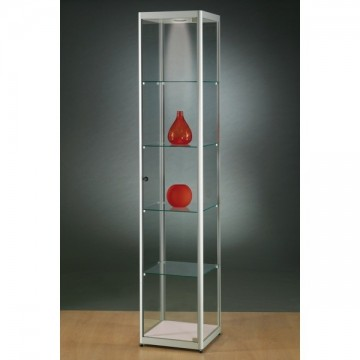 Illuminated Glass Showcase - Glass Display cabinet with lighting - 400x400x2000