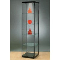 Illuminated Glass Showcase - Glass Display cabinet with lighting - 500x500x2000