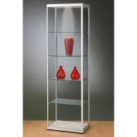 Glass Showcase with top spot lamp 600x2000x400mm