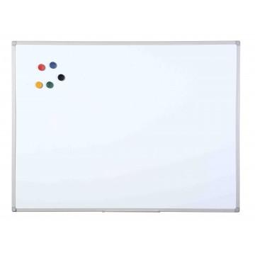 White Magnetic Dry Wipe Board Grey Plastic Frame