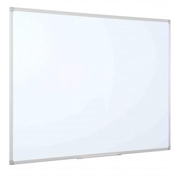White Dry Wipe Board Grey Plastic Frame
