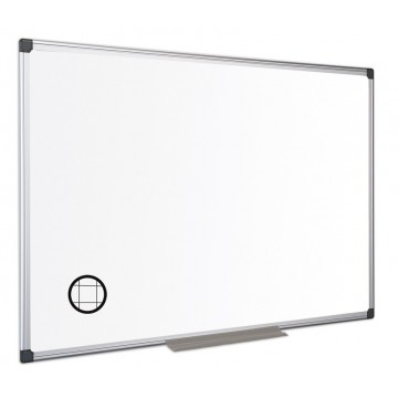 Gridded Dry Wipe Board (25mm Grid) With Aluminium Frame