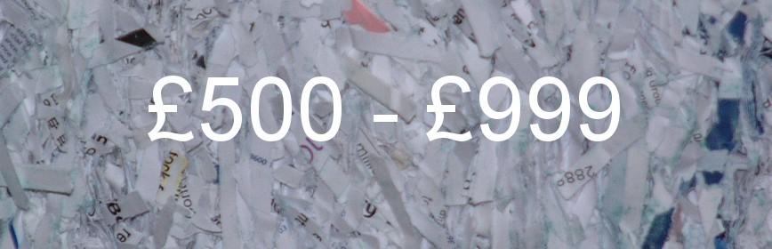 £500 - £999
